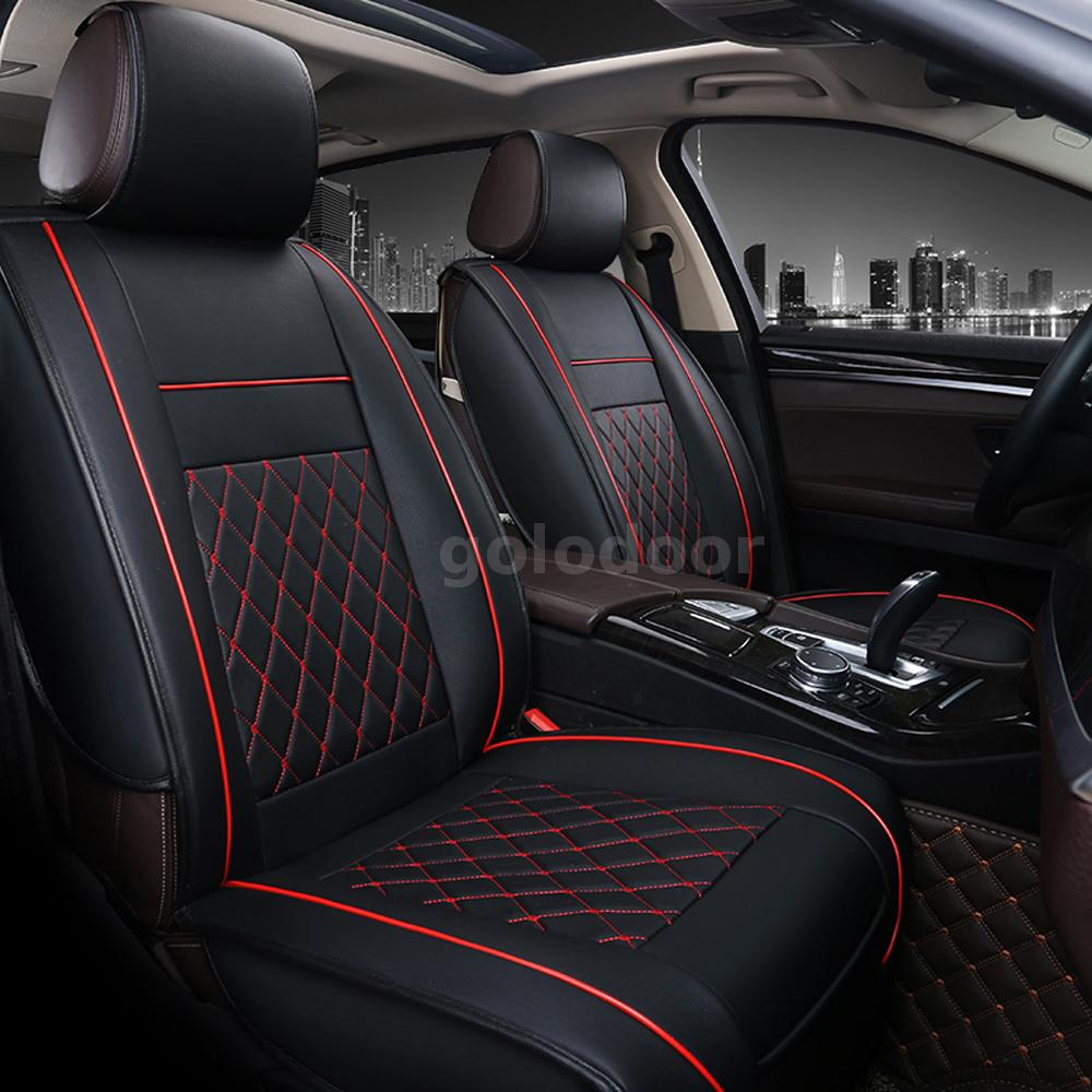 Multicolor Car Front Seat Covers PU Leather Universal Seat Cushion Set Protector