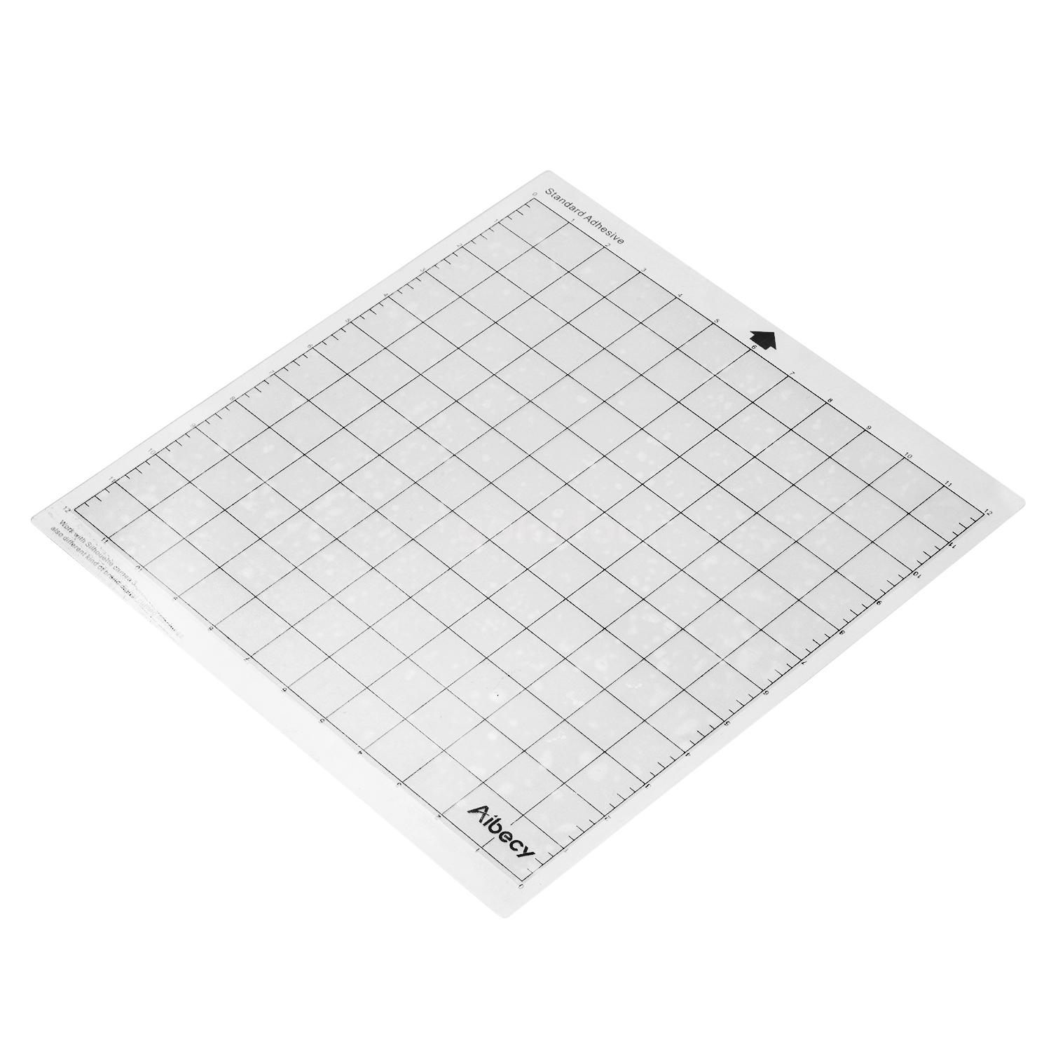 """Replacement Cutting Mat Transparent Adhesive Mat with Measuring Grid 12*24/"""" Y6M9"""